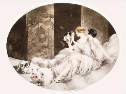 Wall sticker  Small dogs - Louis Icart