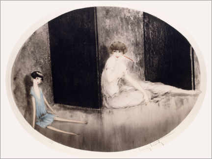 Gallery print  French doll - Louis Icart