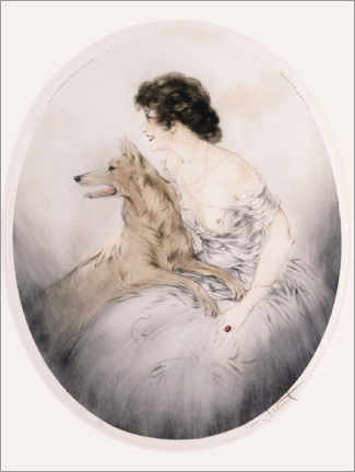 Foam board print  Best friends - Louis Icart