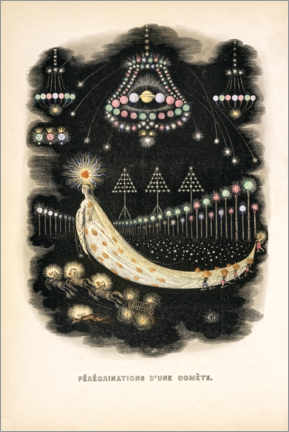 Premium poster  The Peregrinations of a Comet (french) - J.J. Grandville