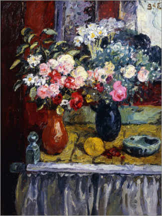 Foam board print  Still life with flowers - Georges d'Espagnat