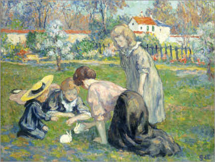 Foam board print  Children in the park - Georges d'Espagnat