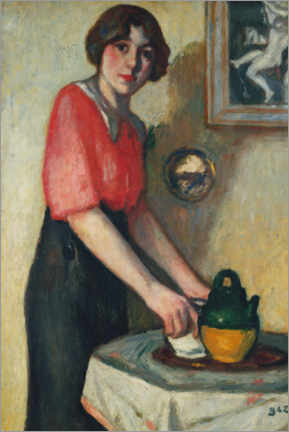 Gallery print  Young woman with a green pot - Georges d' Espagnat