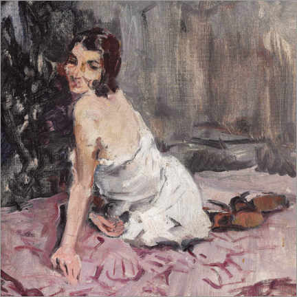 Canvas print  Young woman, sitting on a carpet - Brynolf Wennerberg