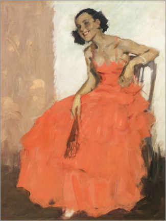 Premium poster  Girl in ball gown - Brynolf Wennerberg