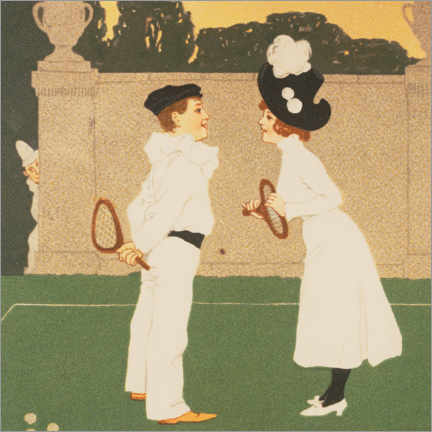 Premium poster  Acquaintance on the tennis court - Brynolf Wennerberg