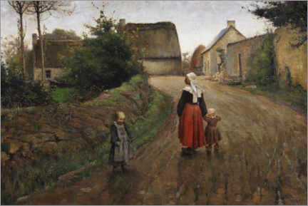 Canvas print  Street in Pont-Aven - Archibald Standish Hartrick