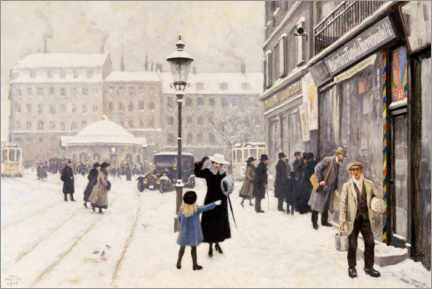 Canvas print  The Österbrogade in winter - Paul Fischer
