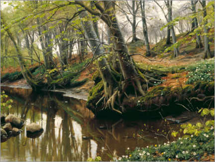 Acrylic print  Spring day at the edge of the forest - Peder Mørk Mønsted