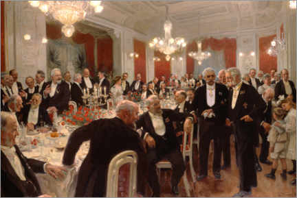 Acrylic print  The anniversary dinner at Adelaide - Laurits Regner Tuxen