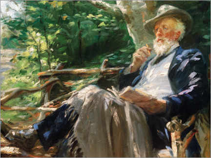 Canvas print  Portrait of the poet Holger Drachmann in the Skagen Forest - Peder Severin Krøyer