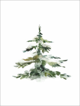 Premium poster Fir tree in the snow