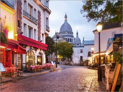 Premium poster  Montmartre in the morning, France