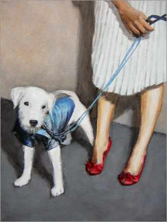 Gallery print  Dog with Lady - Sarah Morrissette
