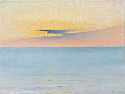 Wall sticker  Sea in sunset - August Hagborg