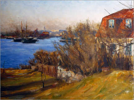 Foam board print  The old house in front of Stockholm - Prins Eugen