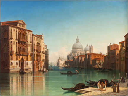 Acrylic print  View of the Grand Canal in Venice - Gustaf Wilhelm Palm