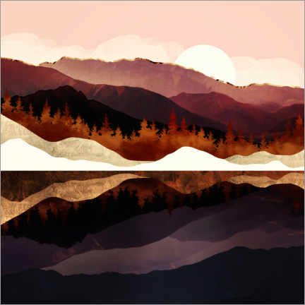 Gallery print  Rose Mountain Reflection - SpaceFrog Designs