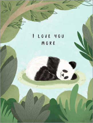 Foam board print  I love you more - Nikita Jariwala