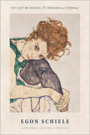 Foam board print  Egon Schiele - Primordially eternal - Museum Art Edition