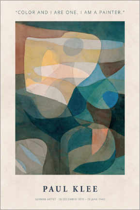 Foam board print  Paul Klee - Color and I - Museum Art Edition