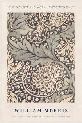 Foam board print  William Morris - Love and work - Museum Art Edition