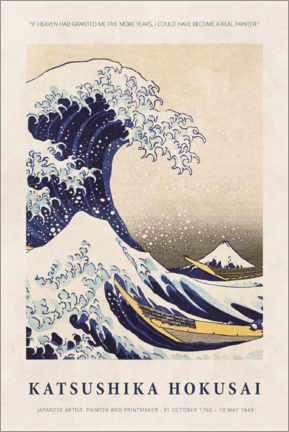 Foam board print  Katsushika Hokusai - Five more years - Museum Art Edition