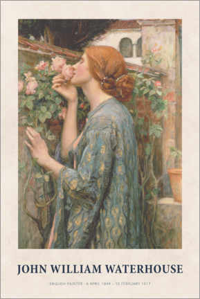 Premium poster  John William Waterhouse - The Soul of the Rose - Museum Art Edition