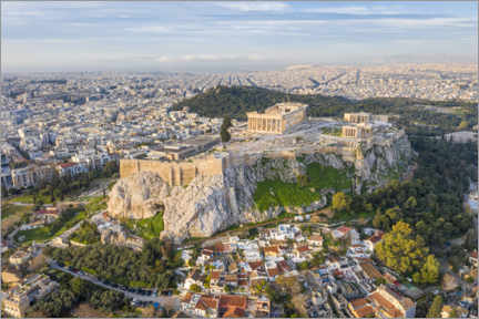 Premium poster  The Acropolis of Athens from a drone - George Pachantouris