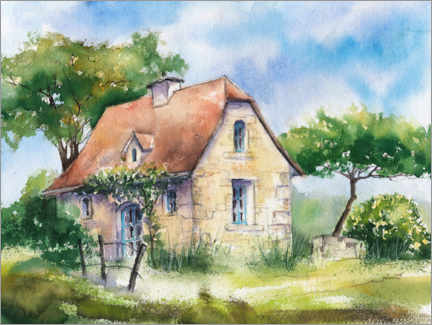 Gallery print  Country house in France - Jitka Krause