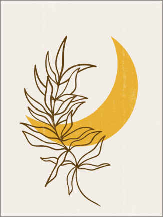 Wall sticker  Floral Moon - Olga Telnova