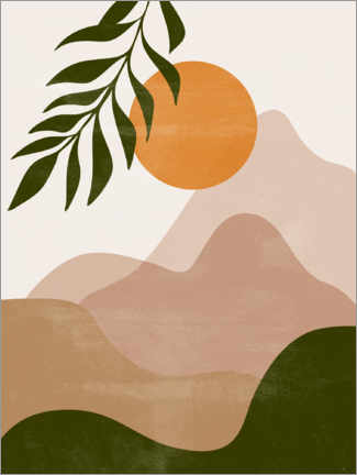 Wall sticker  Sunset in the mountains - Olga Telnova