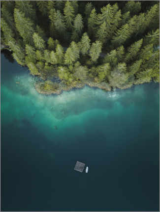 Aluminium print  Forest by the Lake - Lukas Saalfrank