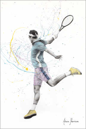 Premium poster  The Tennis Player - Ashvin Harrison