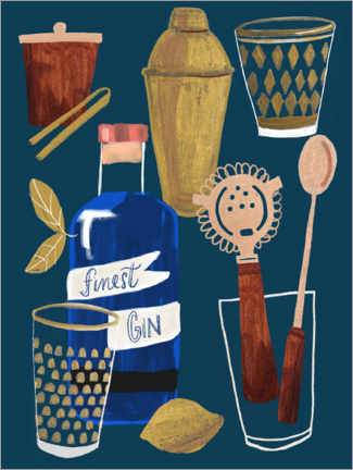 Canvas print  Still life with gin - Sharon Montgomery