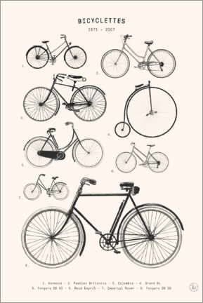 Premium poster  Bicycles - Collection (french) - Florent Bodart