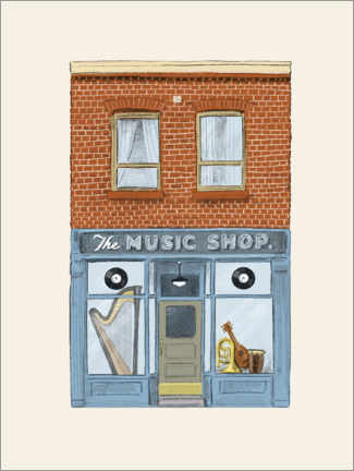Aluminium print  The Music Shop - Terry Fan