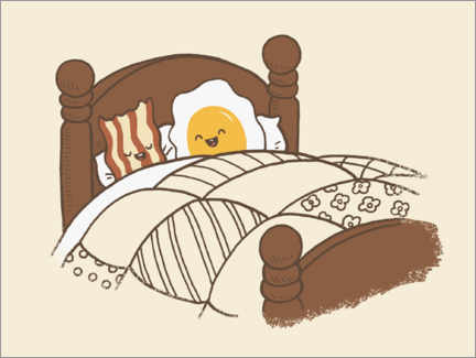 Gallery print  Breakfast In Bed - Terry Fan