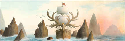 Premium poster The Antlered Ship