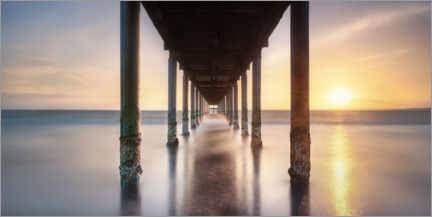 Wall sticker  Sunset on the Baltic Sea with a pier - Mandfred Voss