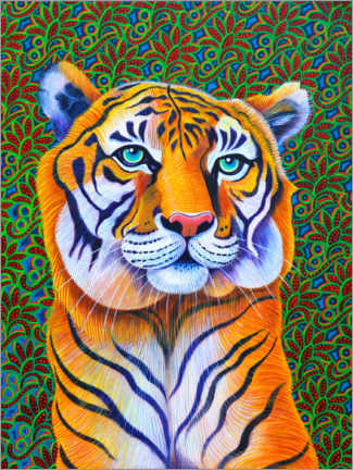 Wood print  Tiger - Jane Tattersfiel