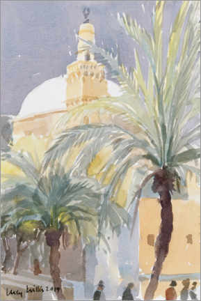 Premium poster  Old City Palms II, Jerusalem - Lucy Willis