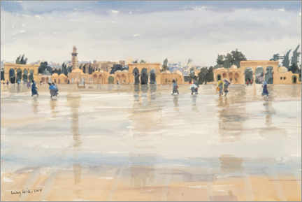 Premium poster  Wind and Rain on the Temple Mount, Jerusalem - Lucy Willis