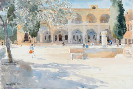 Premium poster  Batei Mahase Square, Old Jerusalem - Lucy Willis