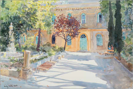 Premium poster  The garden of St. Annes Church, Jerusalem - Lucy Willis