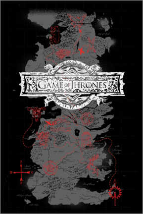 Canvas print  Game of Thrones - Westeros Map