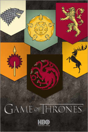 Acrylic print  Game of Thrones - Houses emblems