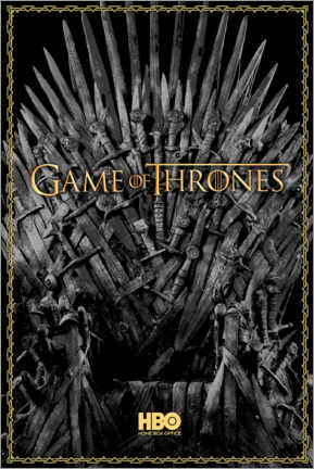 Premium poster  Game of Thrones - The Iron Throne - gold