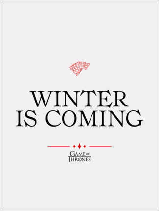 Acrylic print  GOT movie quote - Winter is coming