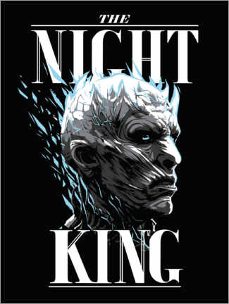 Wood print  Game of Thrones - The Night King